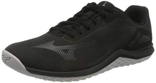 Mizuno TF-02, Walking Shoe Hombre, Black/Phantom/Lime Punch, 39.5 EU