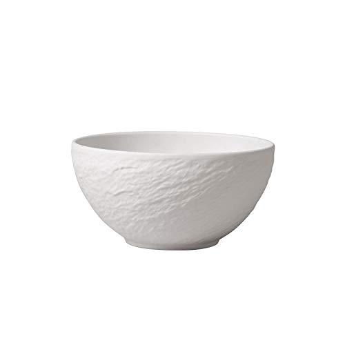 Villeroy & Boch - Manufacture Rock blanc Schale, 650 ml, 14 cm, Premium Porzellan, spülmaschinen-, mikrowellengeeignet, Weiß
