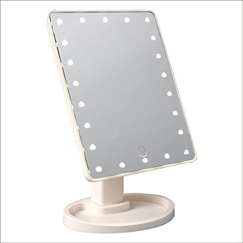 GHonG LED make-up spiegel met touch-sensor, 360 graden draaibaar, 22 LED-lampen