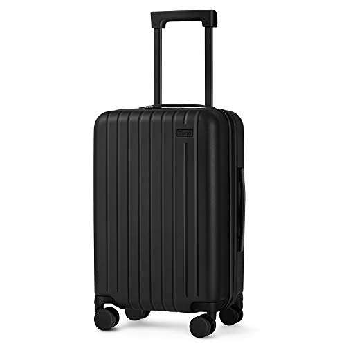 55cm Hard Shell Cabin Suitcase, Travel Lightweight Carry on Luggage with TSA Lock and 4 Rolling Wheels, Approved for British Airways, Virgin Atlantic, easyJet, Ryanair, Flybe and More