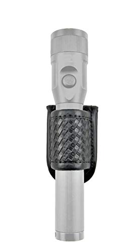 TECH118 Flashlight Holder -Duty Belt Basketweave Flashlight