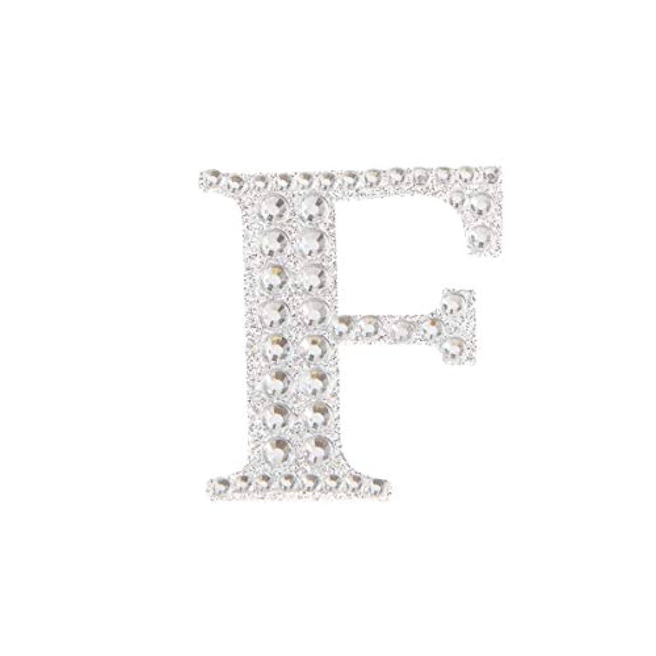 Darice 30053480 Silver Bling Monogram Letter F Sticker,