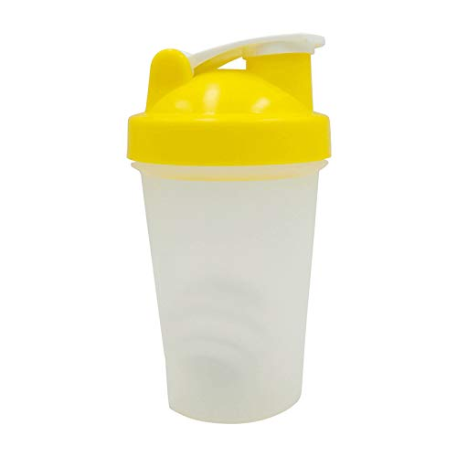 Wasserbecher 400ml Sport Fitness Protein Pulver Shake Cup Kreativer Plastikbecher umrühren