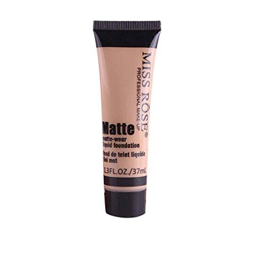 Babysbreath17 Maquillaje Corrector Miss Rose Matte Loción Hidratante Crema Mujeres Niñas Crema Base líquida Blanquear Beige 6
