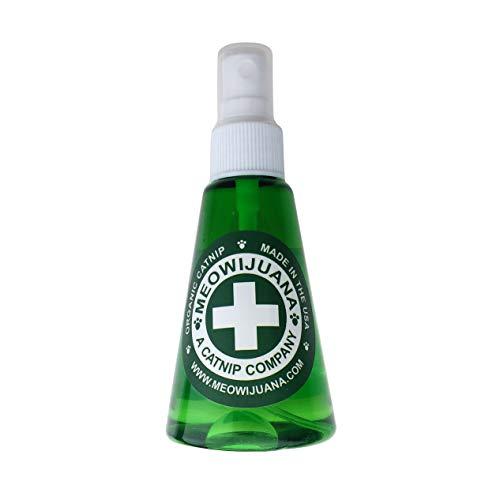 Meowijuana | Premium Katzenminze Spray | Bio | Hohe Potenz | Verwendung auf Katzenspielzeug, Teasers und Kratzern | gewachsen in den USA | Katzenliebhaber und Katzenliebhaber zugelassen, 3 ounce