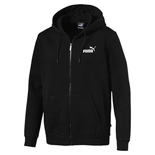 PUMA Herren ESS FZ Hoody FL Pullover, Black, S