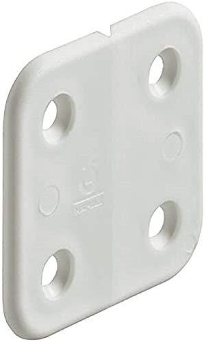 COMANCHE Bisagra plástico 40x43mm Blanco para Puertas de armarios Pack 10 Unidades Color Blanco