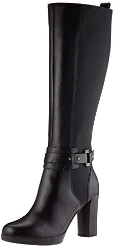 Geox Damen D ANYLLA E Knee High Boot, Black, 39 EU
