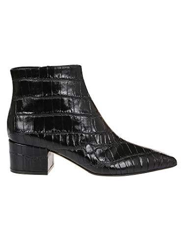 Sergio Rossi Luxury Fashion Femme A85430MMVS451000 Noir Cuir Bottines | Automne-Hiver 19