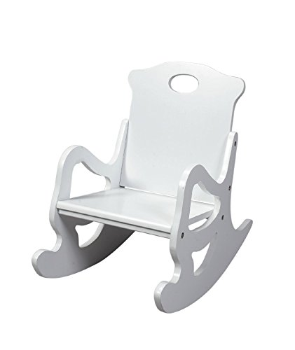Gift Mark Single Seat Puzzle Rocker, White