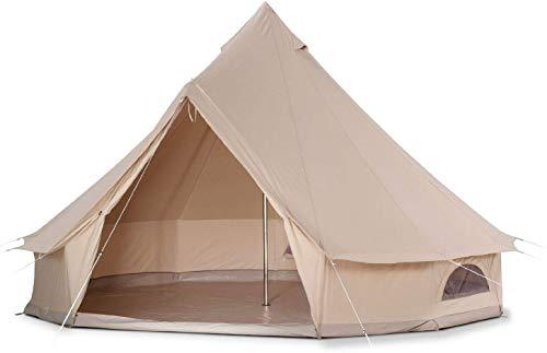 YANGSANJIN Gezellige Huis Buiten Waterdicht Vier Seizoenen Familie Camping Bell Tent met Gaas Deur en Ramen