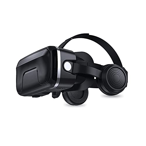WERHA VR Auriculares 3D Gafas Realidad Virtual Auriculares para VR Juegos y películas en 3D, Sistema de Cuidado de los Ojos para teléfonos Inteligentes Compatible con 4.7-6.5 Pulgadas