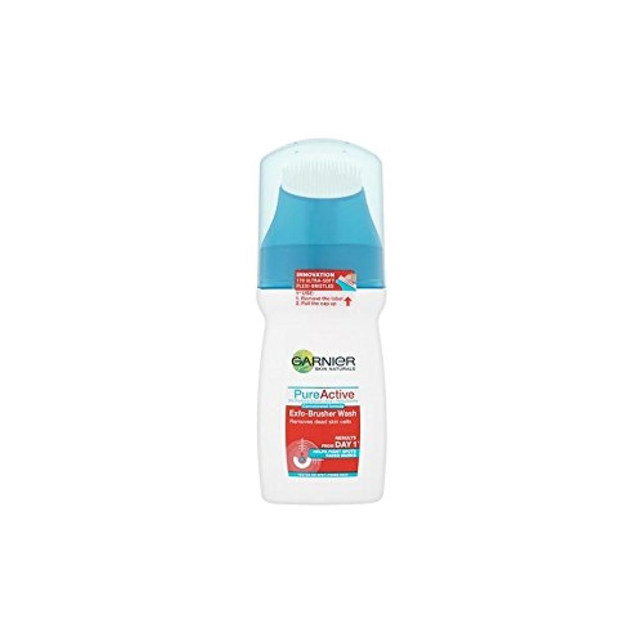 シーン姉妹アルバムガルニエ純粋な活性-ブラッシャーの洗顔(150ミリリットル) x4 - Garnier Pure Active Exfo-Brusher Face Wash (150ml) (Pack of 4) [並行輸入品]