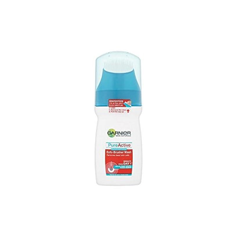 太鼓腹食べる失望Garnier Pure Active Exfo-Brusher Face Wash (150ml) - ガルニエ純粋な活性-ブラッシャーの洗顔(150ミリリットル) [並行輸入品]