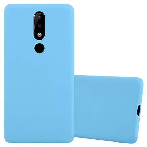 Cadorabo Coque pour Nokia 5.1 Plus/Nokia X5 en Candy Bleu - Housse Protection Souple en Silicone TPU avec Anti-Choc et Anti-Rayures - Ultra Slim Fin Gel Case Cover Bumper