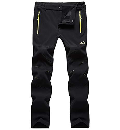 Lachi Pantaloni Uomo Softshell Invernale Antivento Impermeabile Pantalone Tecnico Felpa Fodera Outdoor da Trekking Montagna Escursionismo