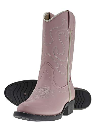 Kid Pink Cowboy Boots