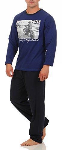 Harle Langer Schlafanzug Herren Gr. 52/L Navy Fotodruck Schlafanzug schlafanzüge Pyjama Pyjamas Größe Grösse Gr. 48-50 52-54 56-58 Größe Grösse Gr. 48/50 52/54 56/58 48 50 52 54 56
