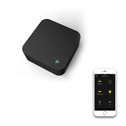 ventilatore wifi alexa Smart WiFi Telecomando IR WiFi (2.4 Ghz) Telecomando universale a infrarossi abilitato per condizionatore d'aria TV Ventilatore DVD Uso dell'APP Tuya Smart Life Compatibile con Alexa