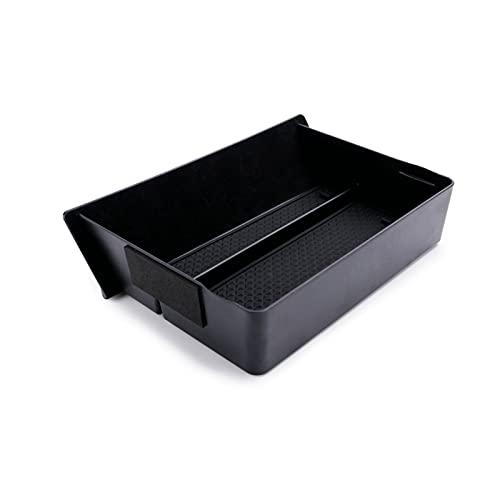 ZIHAN Feil Store Ajuste para Tesla Modelo X Modelo S 2014-2019 Control Central Caja de cajones Centro de automóviles Tableta Cajón de Almacenamiento Central Bandeja de Cuadro de Tablero