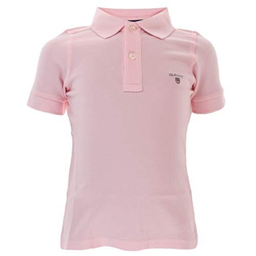 GANT Kinder Unisex Poloshirt Original Pique in Rosa Größe 98/104 (3-4 Jahre)