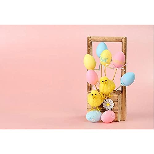 Sfondo fotografico Primavera Pasqua Rosa Uova Pulcino Baby Shower Ritratto Fondali fotografia Studio Puntelli per fotofoni-250x180cm