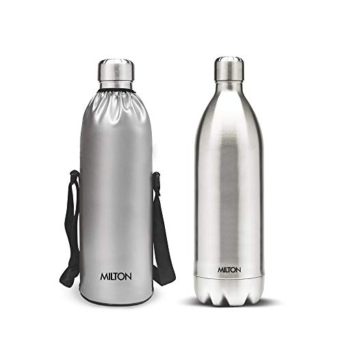 Milton bottle Thermosteel Stainless Steel Duo 1800ml Water Bottle with Jacket 24 hours Hot or Cold.