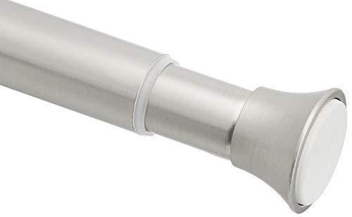 Amazon Basics Tension Curtain Rod, Adjustable 24-36' Width, Nickel Finish