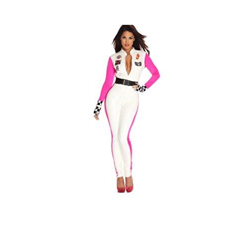 GGTBOUTIQUE Top Totty - Disfraz sexy de piloto de carreras para Halloween