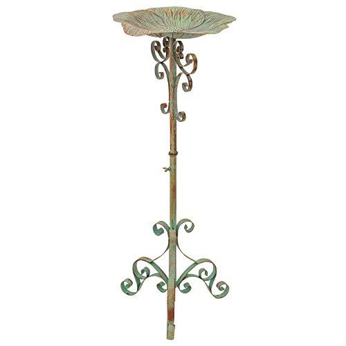 aubaho Vogeltränke Vogelbad Garten Vogelbecken Vogel Tränke Metall Antik-Stil 91cm
