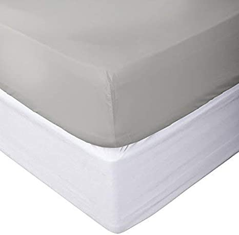 """Glorious 1 PC Fitted Sheet 15/"""" Deep Pocket 1000 TC Queen Size Solid Colors"""