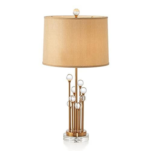 ACGTH Lámpara de Mesa de Vidrio nórdico Tela de Tela Escritorio Luz de salón Dormitorio Habitación Boda Lámpara de Noche E27 (Size : Remote Switch)