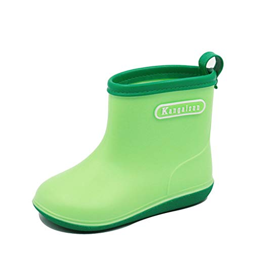 Baby Waterproof Rain Boots,Toddler Infant Kids Baby Boys Girls PVC Rain Boots Waterproof Non-Slip Shoes Yellow