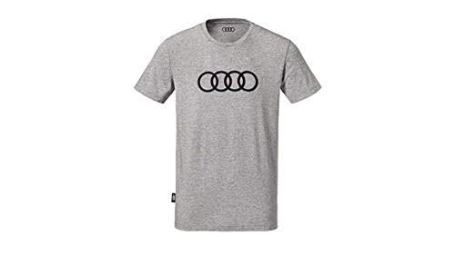 Audi Original Herren Shirt Audi Ringe, grau (M)