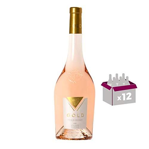 Lot von 12 Flaschen Roséwein in 75cl Maître Vignerons de la Presqu'Île de Saint-Tropez – Gold – Côtes de Provence Rosé 2019