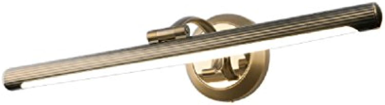 Spiegel-vorderes Licht LED feuchtigkeitsfestes Rost-Retro- Badezimmer-Frisierkommode (gre   40cm-8w)