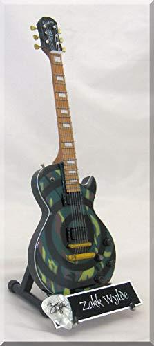 ZAKK WYLDE Guitarra miniatura con púa de guitarra CAMO