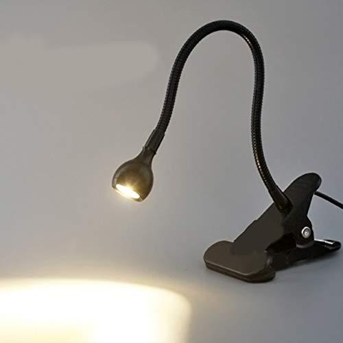 XHSHLID USB flexibele staande clip LED leeslamp licht clip aan tafel computer bureaulamp studenten slaapkamer bureaulamp verlichting thuis
