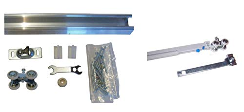 Series 1- Heavy Duty Pocket Door Track and Hardware with Soft Close (48 inch Track (for 24 inch Door))