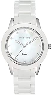 MESTIGE Womens Quartz Watch, Analog Display and Ceramic Strap MSWA3139