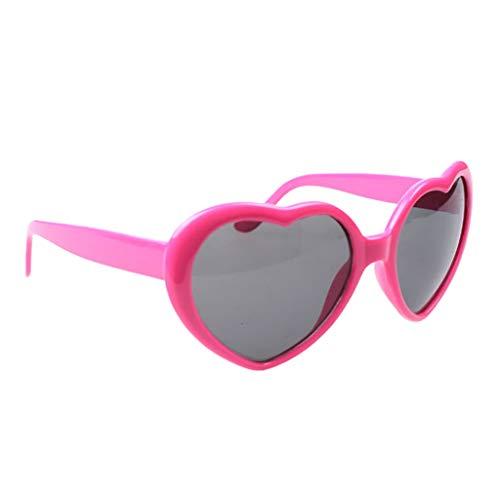Sharplace 1 Pieza Gafas de Sol de de Mujer, Resistentes a Impactos,Inastillables - Rosado, 5.5 x 6cm