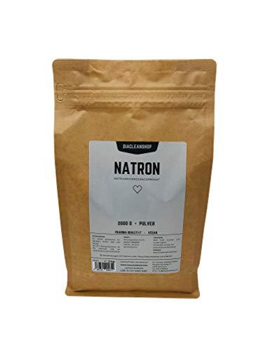 Natron 2kg im Kraftpapierbeutel in pharmazeutischer Qualität - Nachfüllbeutel Natriumhydrogencarbonat (E500ii) - Hausmittel zum Backen, Reinigen, Baden, Gerüche Neutralisieren & DIY-Kosmetik