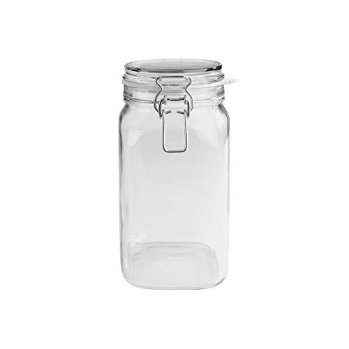 MÄSER 113966 Drahtbügelglas \'Gothika\' eckig, verzinkter Drahtbügel, 1450 ml, klar (1 Stück)