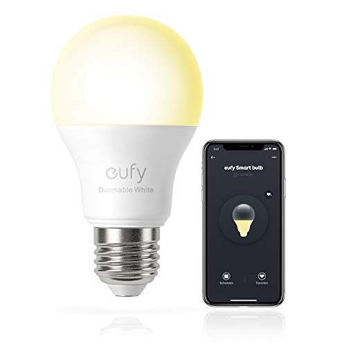 eufy by Anker, Lumos Smart Bulb 2.0 -Dimmable White, Soft White (2700K), 9W, Works with Amazon Alexa and The Google Assistant, No Hub Required, Wi-Fi, 60W Equivalent, Dimmable LED Bulb, A19, E26, 800