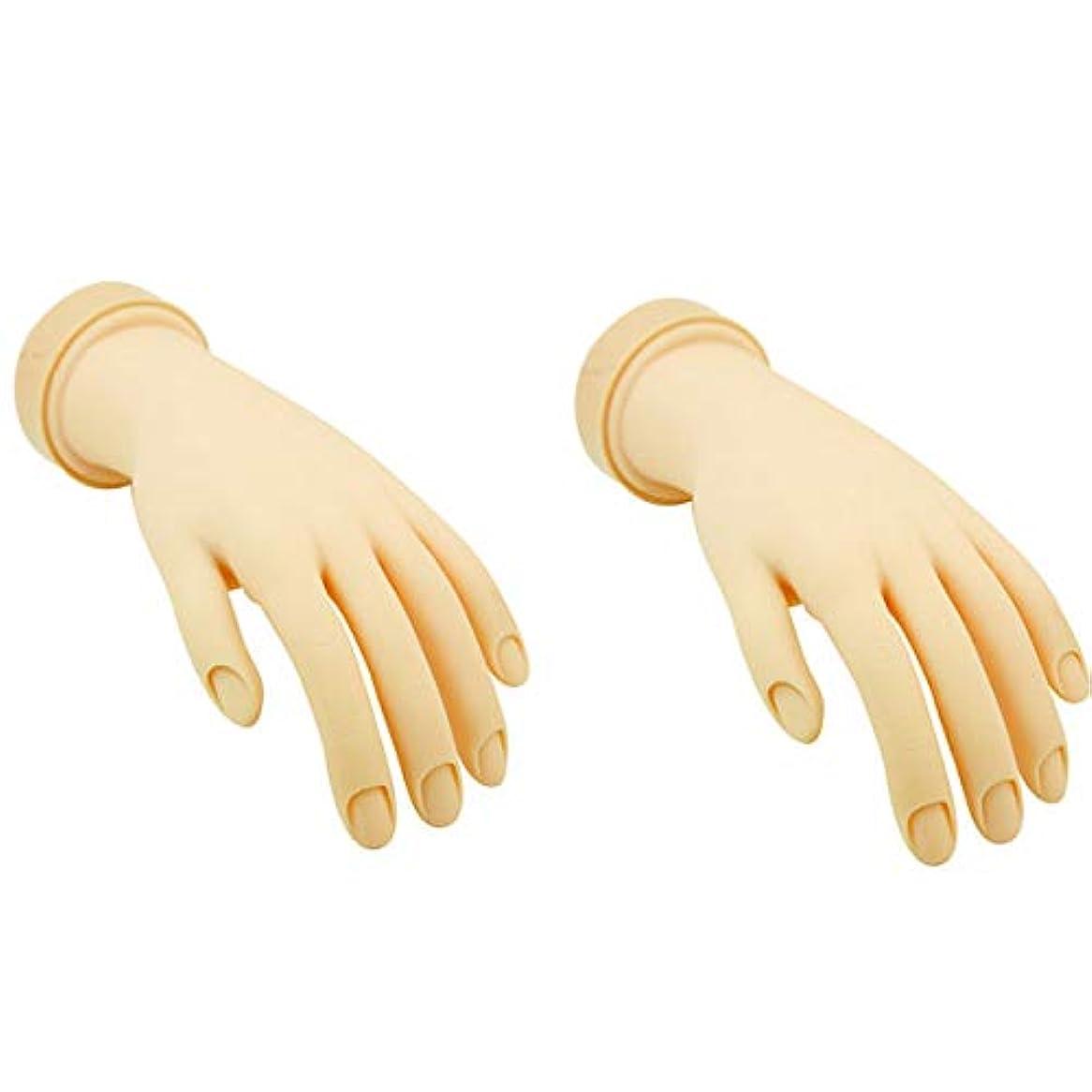 母音市の花エリートトレーニングハンド (ネイル用) 左手 (2個セット) [ 練習用マネキン 手 指 ハンドマネキン マネキン 施術用 トレーニング ]