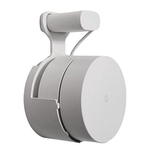 Dot Genie Google WiFi [Old Rectangular Plug – NOT Current Round Plug] Outlet Holder Mount Stand: No Messy Screws! (1-Pack)
