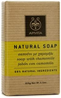 Apivita Natural Soap with Chamomile, 4.41 Ounce