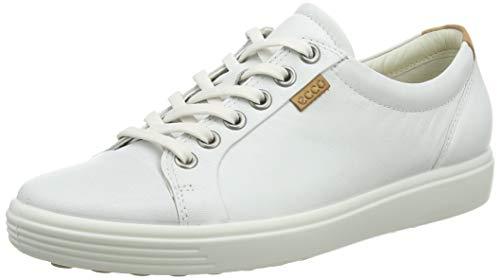 ECCO Womens Soft VII Fashion Sneaker, White, 38 EU/7-7.5 M US