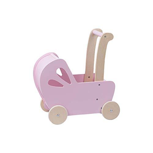 Baby Doll Wooden Pram in Pink