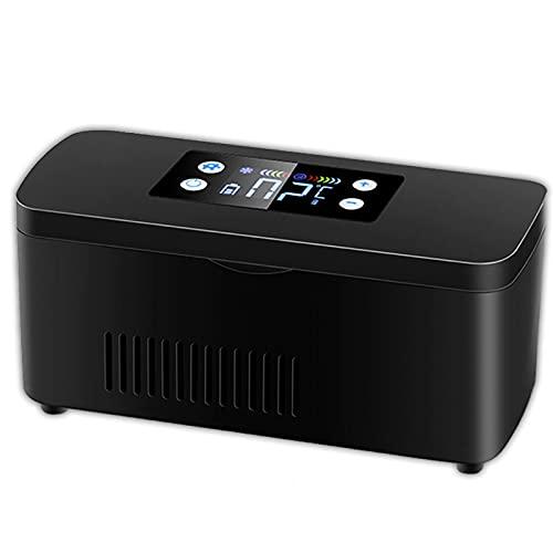 Enfriador de insulina portátil, refrigerador pequeño, mini refrigerador de medicamentos y enfriador de insulina para automóvil, viajes, control inteligente de temperatura